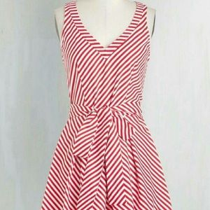 Retrolicious Candy Cane Striped Dress Christmas
